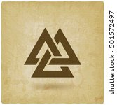 valknut symbol. interlocked... | Shutterstock .eps vector #501572497