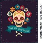 dia de los muertos. day of the... | Shutterstock .eps vector #501583027