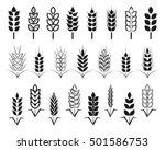symbols. for logo design wheat. ... | Shutterstock .eps vector #501586753
