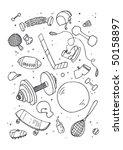 vector illustraition of sports... | Shutterstock .eps vector #50158897