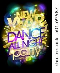 chic golden new year dance... | Shutterstock .eps vector #501592987
