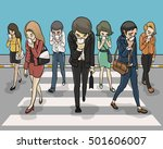 everybody zebra crossing and...   Shutterstock .eps vector #501606007