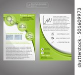 front and back page brochure... | Shutterstock .eps vector #501609973