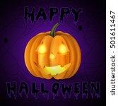 scary jack o lantern halloween... | Shutterstock .eps vector #501611467