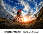 man in helmet and glasses stay... | Shutterstock . vector #501616963