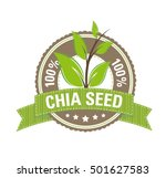 100   chia seed label | Shutterstock .eps vector #501627583
