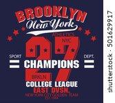 new york brooklyn sport wear... | Shutterstock .eps vector #501629917