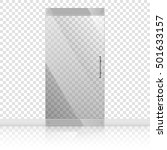 vector transparent glass doors... | Shutterstock .eps vector #501633157