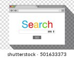 flat style browser window on... | Shutterstock .eps vector #501633373