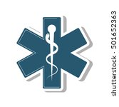 medical symbol isolated icon... | Shutterstock .eps vector #501652363