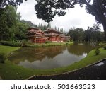 Byodo In Temple In Oahu  Hawaii