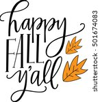 happy fall y'all | Shutterstock .eps vector #501674083