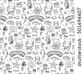 seamless pattern hand drawn... | Shutterstock .eps vector #501696607