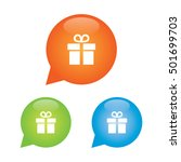 gift or present marker icon | Shutterstock .eps vector #501699703