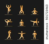 silhouettes of figures yogis... | Shutterstock .eps vector #501723463