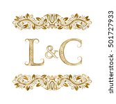 L And C Vintage Initials Logo...