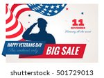 happy veterans day sale banner. ... | Shutterstock .eps vector #501729013