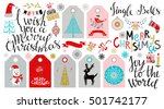 christmas icons  tags  patches  ... | Shutterstock .eps vector #501742177