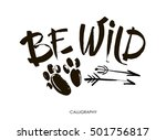 be wild card. hand drawn... | Shutterstock .eps vector #501756817