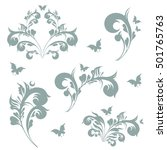 art deco swirls   Shutterstock .eps vector #501765763