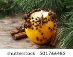 Orange Pomander Ball With...