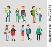 flat illustratuion set of...   Shutterstock .eps vector #501772873