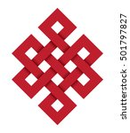 endless knot  a red vector...   Shutterstock .eps vector #501797827