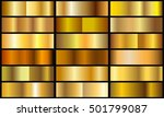 golden backgrounds collection... | Shutterstock .eps vector #501799087