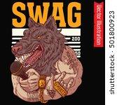 t shirt print. swag werewolf... | Shutterstock .eps vector #501800923