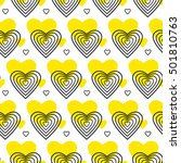 yellow and black vector pattern ... | Shutterstock .eps vector #501810763