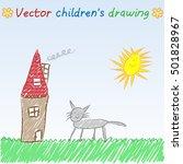 vector children's drawing of... | Shutterstock .eps vector #501828967