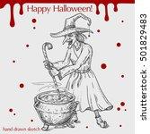 vector linear illustration of... | Shutterstock .eps vector #501829483