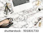 notebook  shoes  office... | Shutterstock . vector #501831733
