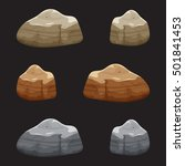 cartoon gray and brown stones...