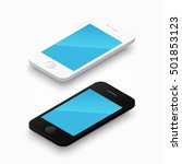 3d white and black colour... | Shutterstock .eps vector #501853123