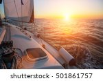 sailing yacht against amazing... | Shutterstock . vector #501861757