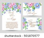 vintage delicate invitation... | Shutterstock . vector #501870577