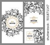 vintage delicate invitation... | Shutterstock . vector #501871147
