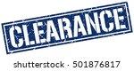 clearance. grunge vintage... | Shutterstock .eps vector #501876817