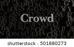 crowd   3d rendered metallic...   Shutterstock . vector #501880273