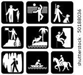 set of vector silhouette icons... | Shutterstock .eps vector #50188036