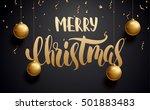 vector illustration of merry... | Shutterstock .eps vector #501883483