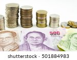 thai money thai baht coins thai ... | Shutterstock . vector #501884983