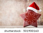 christmas stars decor with... | Shutterstock . vector #501900163