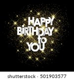 happy birthday to you paper... | Shutterstock .eps vector #501903577