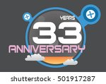 33 Years Anniversary Logo With...
