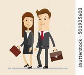 two business professionals ... | Shutterstock .eps vector #501925603