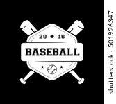 baseball emblem flat icon on...   Shutterstock .eps vector #501926347
