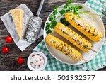 Grilled Corn On Cob Sprinkled...