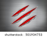 claws scratches on metal  | Shutterstock .eps vector #501934753